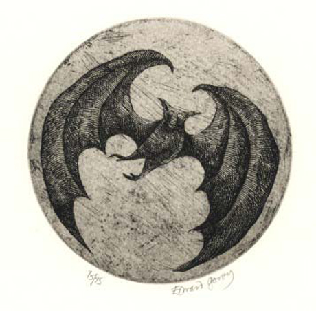Bat - © by Edward Gorey