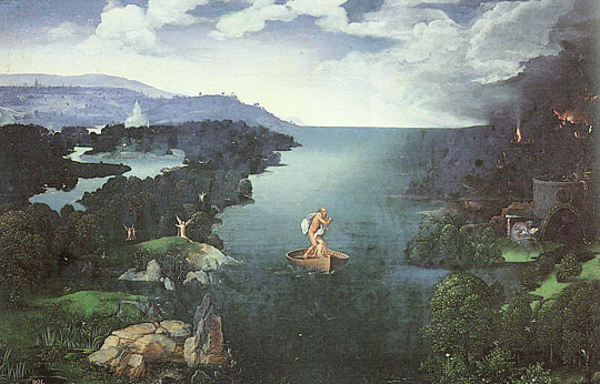 Charon on the Styx. Painting by Joachim Patenier, 1515-24. Museo del Prado, Madrid.