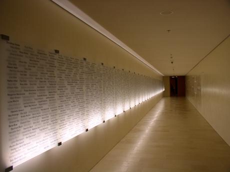 Neue Synagoge Ohel Jakob München - Gang der Erinnerung