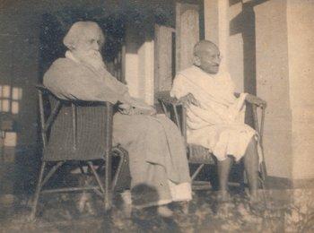 Rabindranath Tagore und Mahatma Gandhi