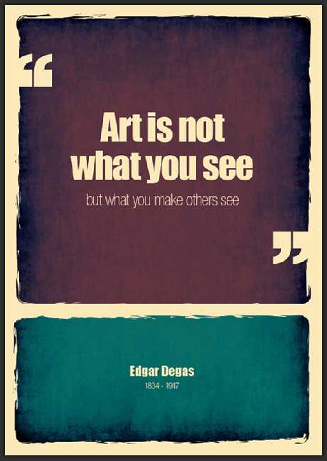 Art is not...