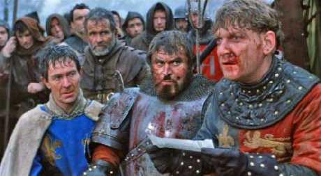 Heinrich V - Szene aus dem gleichnamigen Film von und mit Kenneth Branagh