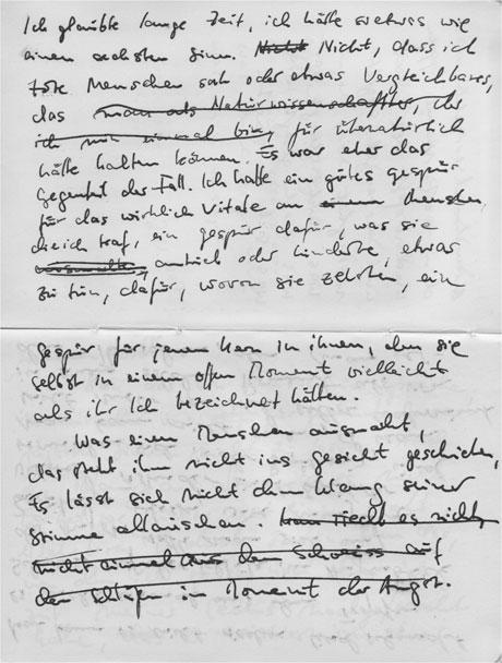 Notizen der ersten Leinwand-Sätze (Zichroni)