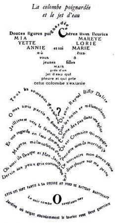 Guillaume Apollinaire, la colombe poignardée et le jet d'eau.