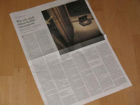 Süddeutsche Zeitung vom 19./20.12.2009 - Eine Seite Wechsler