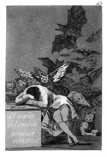 Fracisco de Goya: El sueño de la razón produce monstruos