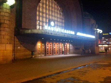 Auf dem Heimweg, Helsinki Hauptbahnhof