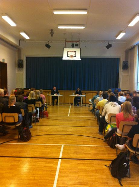Lesung in der deutschen Schule in Helsinki