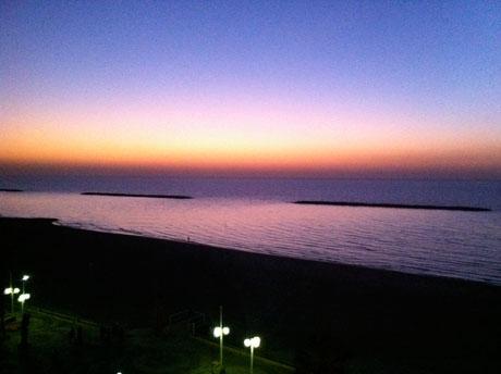 Tel Aviv, Sea Side, Blick auf den Strand an der Herbert Samuel St.