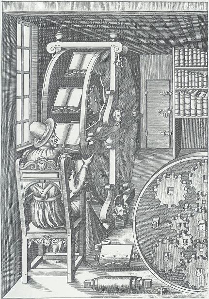 Lesemaschine (Bücherrad) von Agostino Ramelli