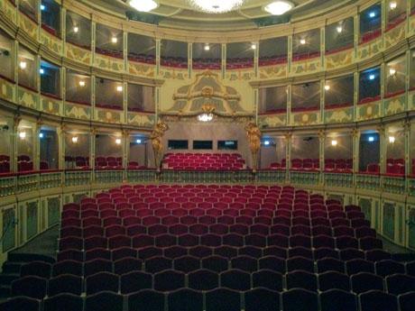 Blick in den Zuschauerraum des Markgrafentheaters in Erlangen