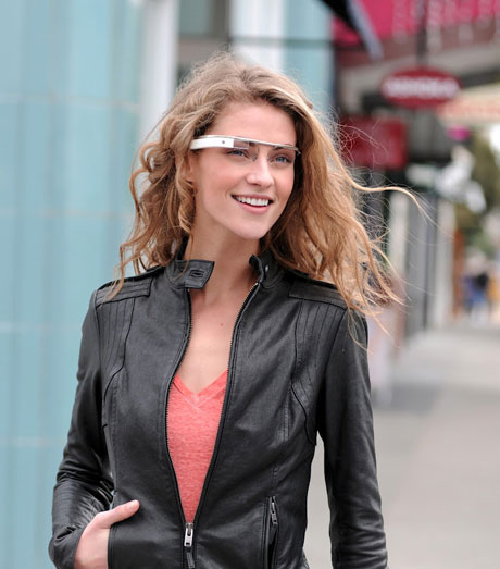 Design-Studie für Google Glass: Augmented Reality via Brille
