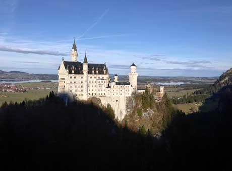 Neuschwanstein, Schlossblick von der Marienbrücke