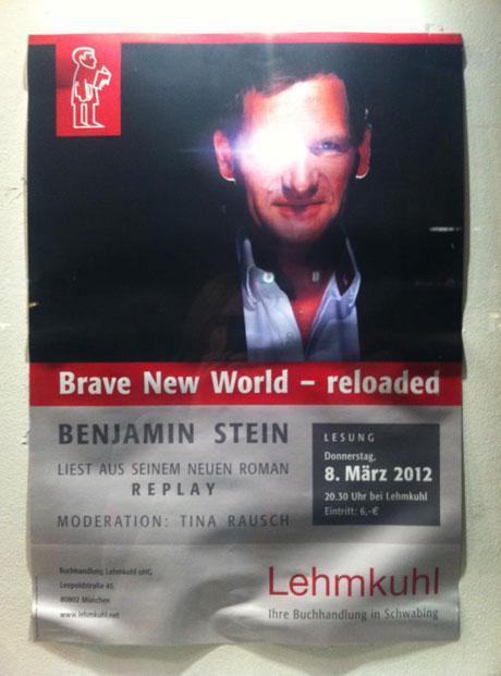 »Replay«-Buchpremiere bei Lehmkuhl am 8 März 2012