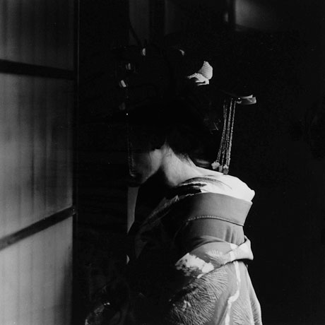 Toshio Enomoto: Takasago Dayu, Kabuki Renshujo Theater, Shimabara (1983), Gelatin Silver, 25x25 cm