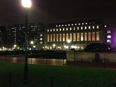 Columbia University Campus bei Nacht