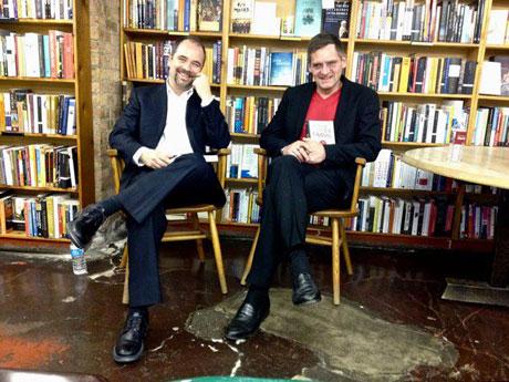 »57th Street Books« in Chicago, mit Brian Zumhagen vor der letzten Lesung der USA-Tour