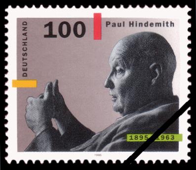 Paul Hindemith Gedächtnisbriefmarke