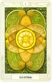 Crowley Tarot - Ace of Discs