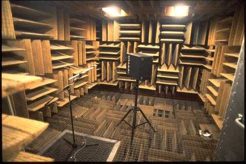 Anechoic Chamber in den Orfield Laboratories, Minnesota, USA
