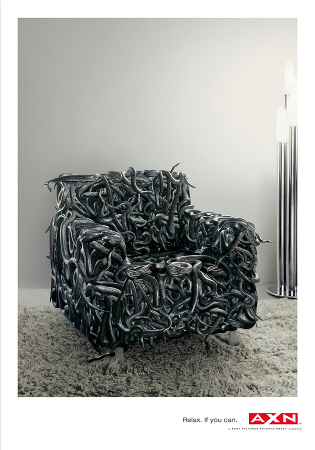AXN Snakes Armchair - © The Voluntarily United Group of Creative Agencies, 1861 United, Milan, Italy