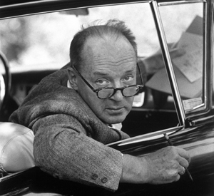 Vladimir Nabokov sits in a parked car in Ithaca, New York, September 1958. Carl Mydans/Time & Life Pictures/Getty Images
