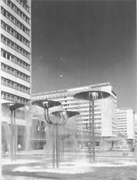 Pusteblumenbrunnen in der Dresdner Prager Strasse