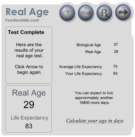 Real Age Calculator