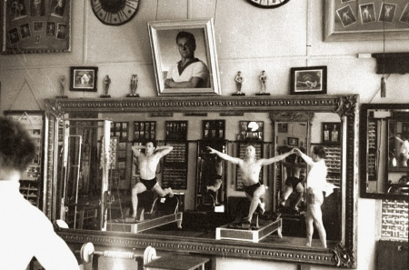 Das Studio von Joseph Pilates in New York